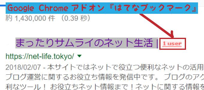 Google Chromeアドオン『はてなブックマーク』