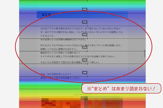 """ptengineアテンションヒートマップ """"まとめ""""部分"""